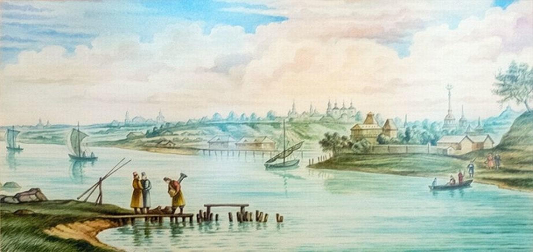 Кричев в середине 18 века