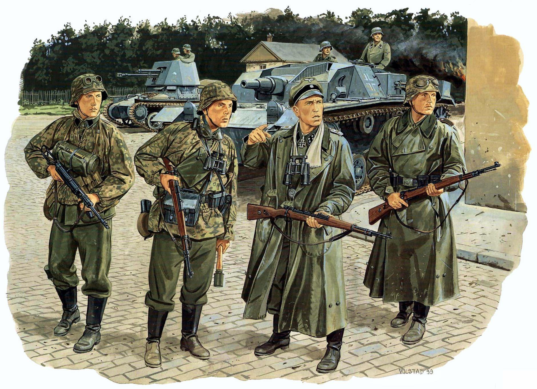 Немцам пришлось задействовать моторизованный разведбат