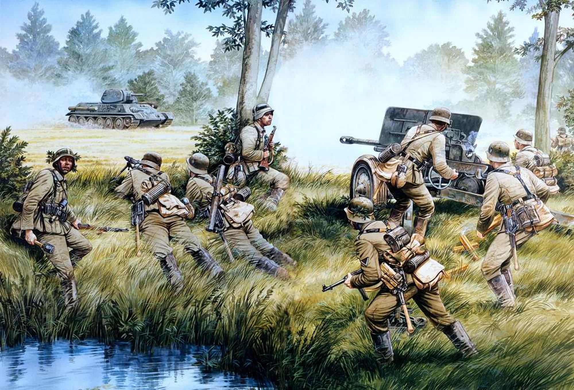 Немцы не ожидали встретить танки 22 дивизии у самой границы