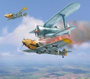 Воздушные бои шли с первым минут войны