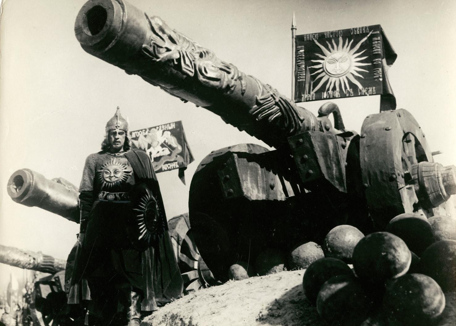 Московское войско имело большое количество тяжелых осадных пушек