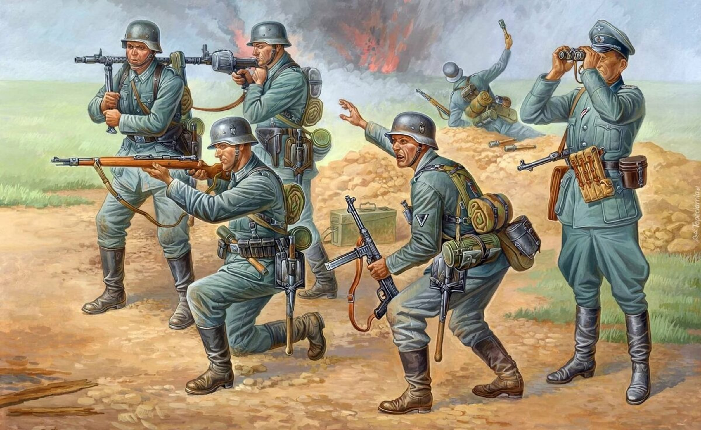 Немецкие солдаты рыскали по Бресту