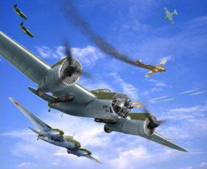 Девятка СБ вылетело на первое боевое задание