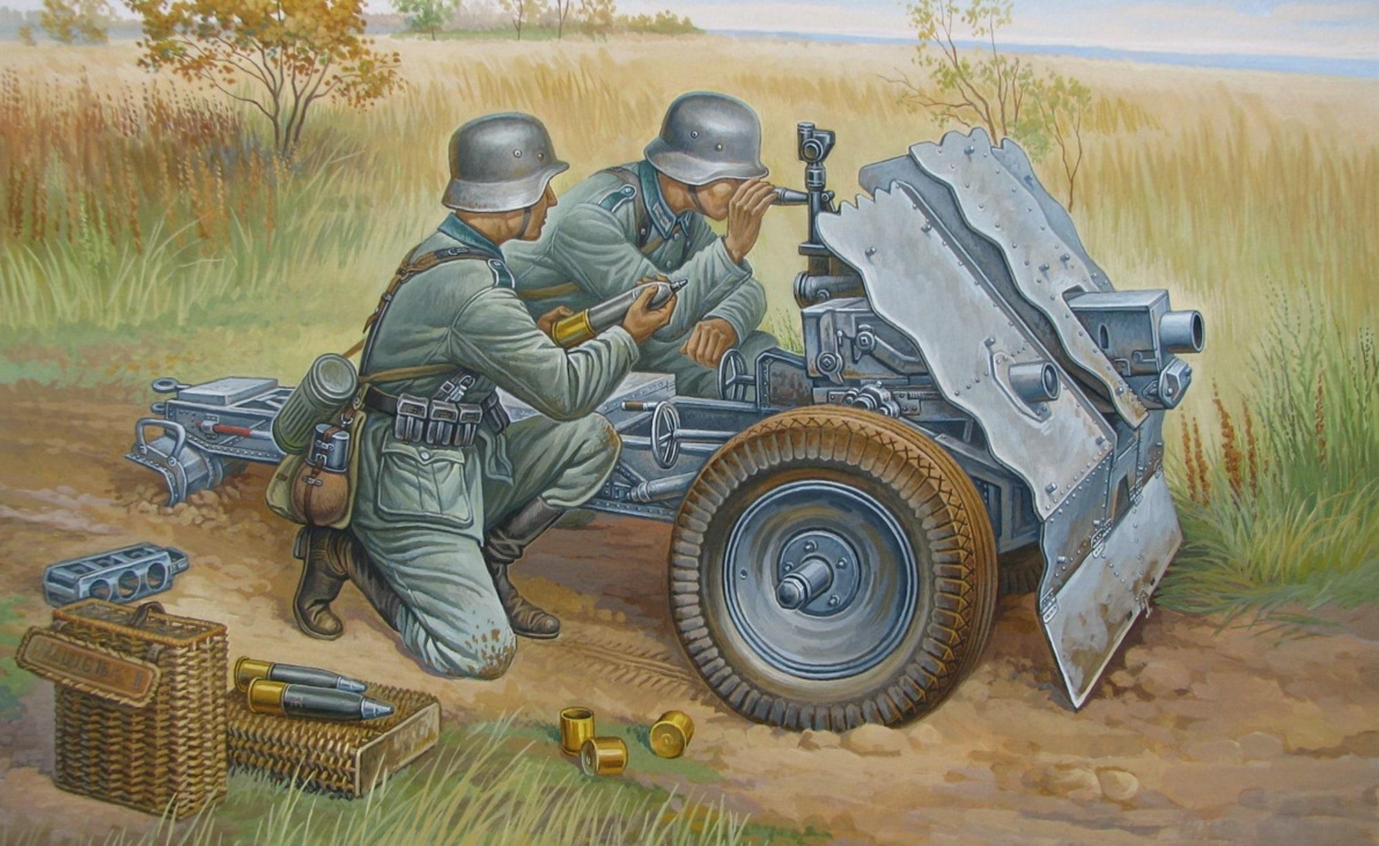 Легкая артиллерия вермахта была неэффективна