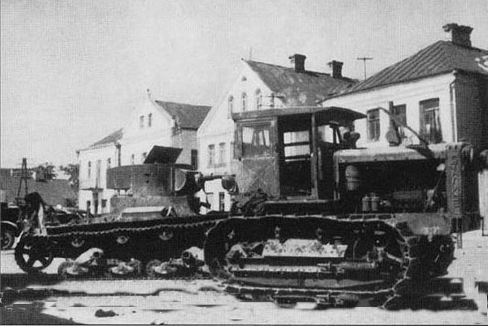 В центре Кобрина в июне 1941 года