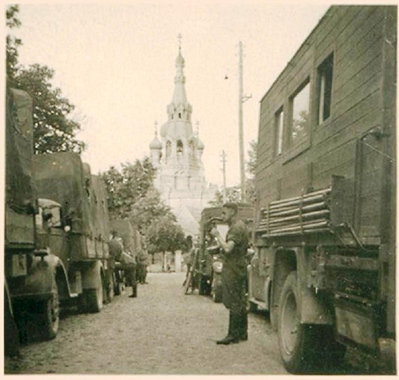 Немцы на улице Мицкевича в Бресте июнь 1941 года
