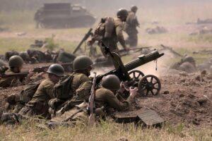 Ожесточенные сражения на Полесье