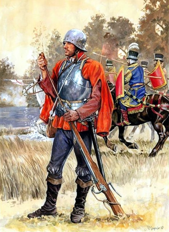 Немецкие аркебузники составляли городскую стражу Полоцка