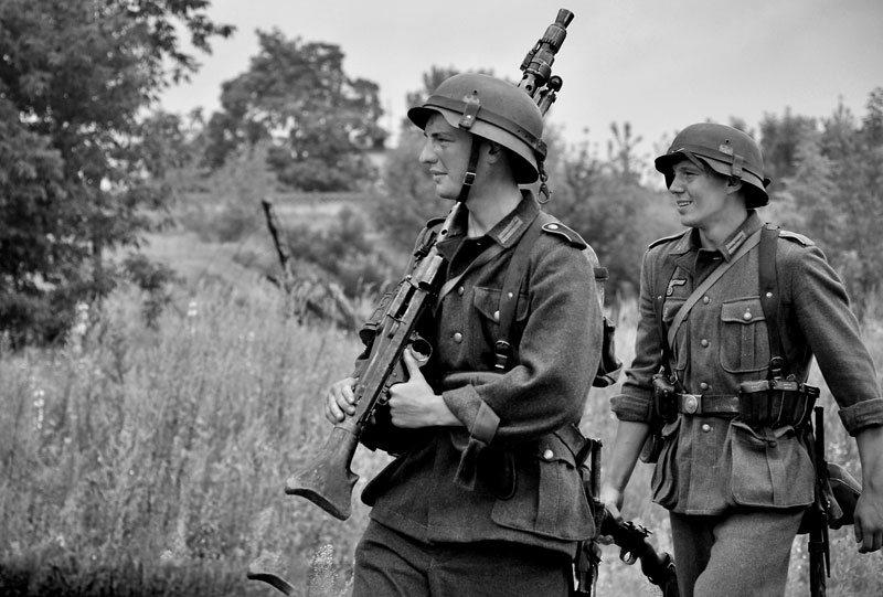 Штурмовые группы вермахта прочесывли город и окрестности