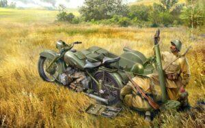 Мотоциклетные полки оснащались тяжелым оружием