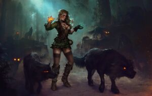 Лесная ведьма пыталась помешать возведению замка