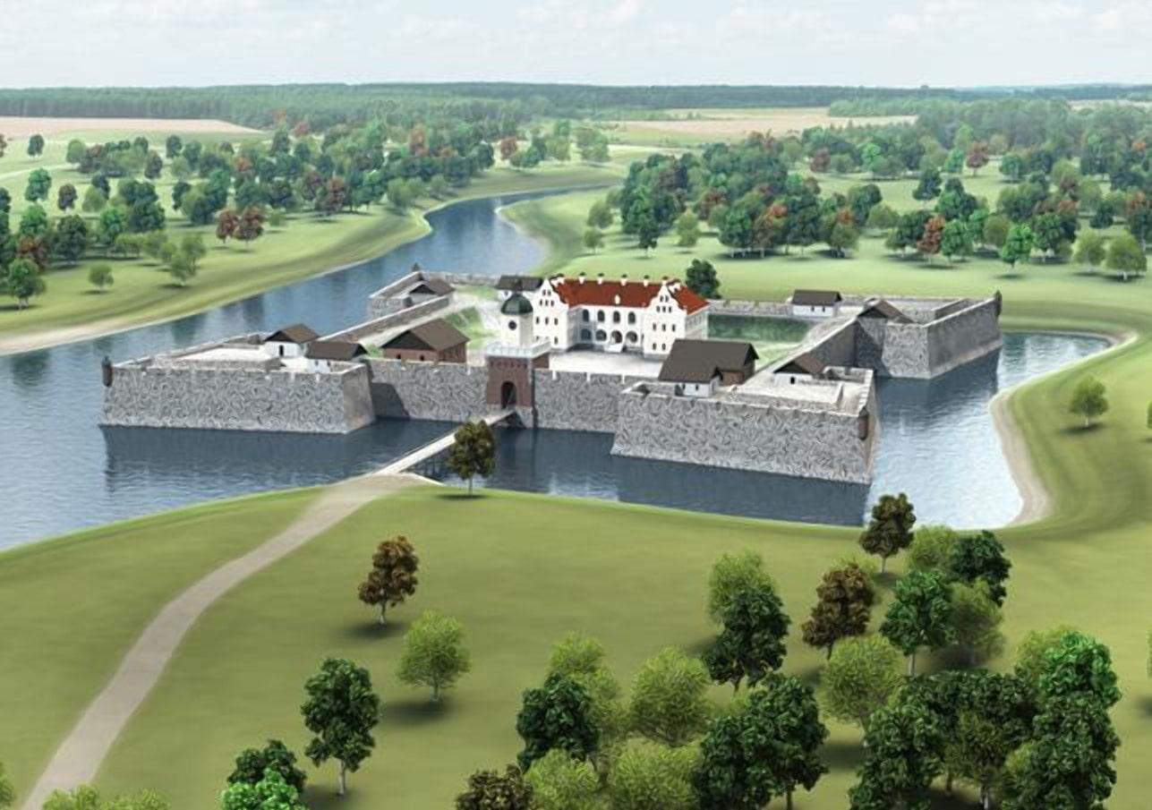 Проект Ляховического замка с новейшими бастионами