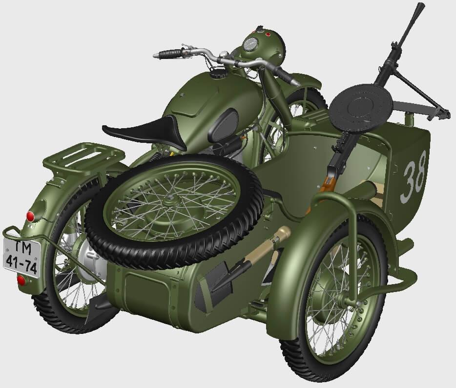 Мотоциклы М-72 как награда за подготовку