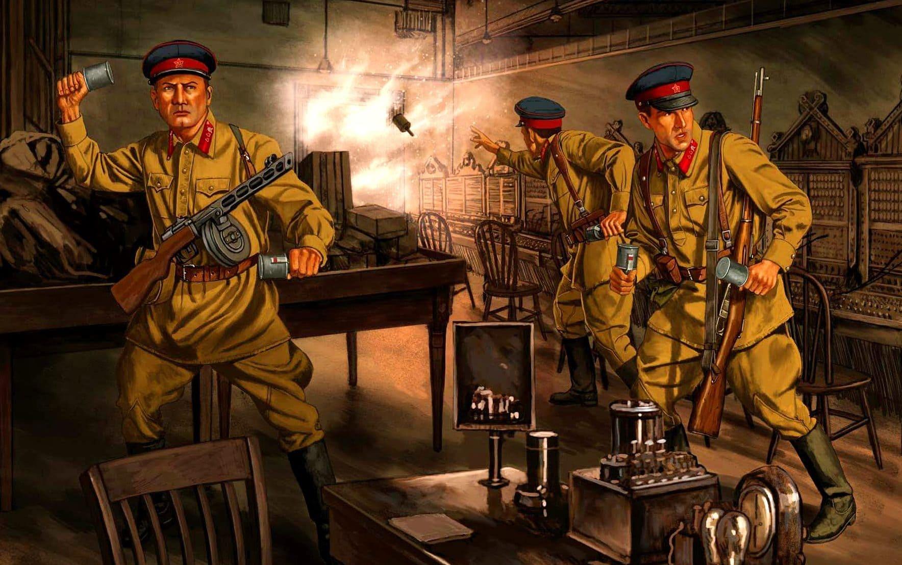 Замаскированные немецкие диверсанты уничтожали командные пункты