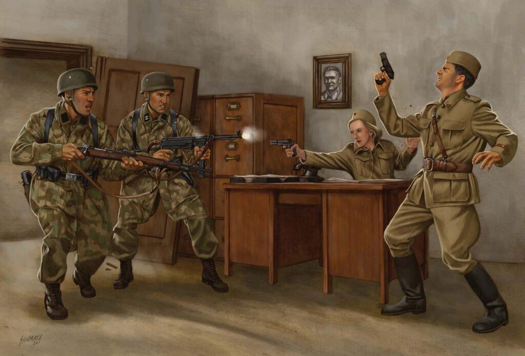 Немецкие диверсанты готовились к захвату приграничных штабов