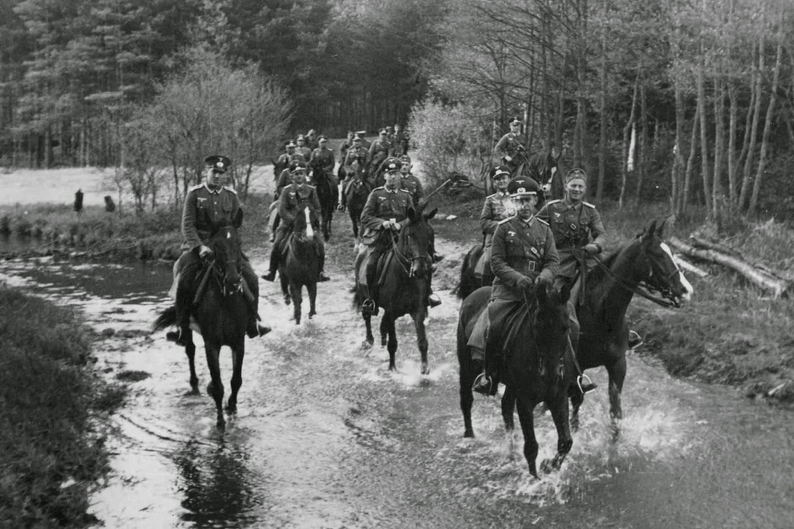 На Дрогичин наступали опытные немецкие кавалеристы