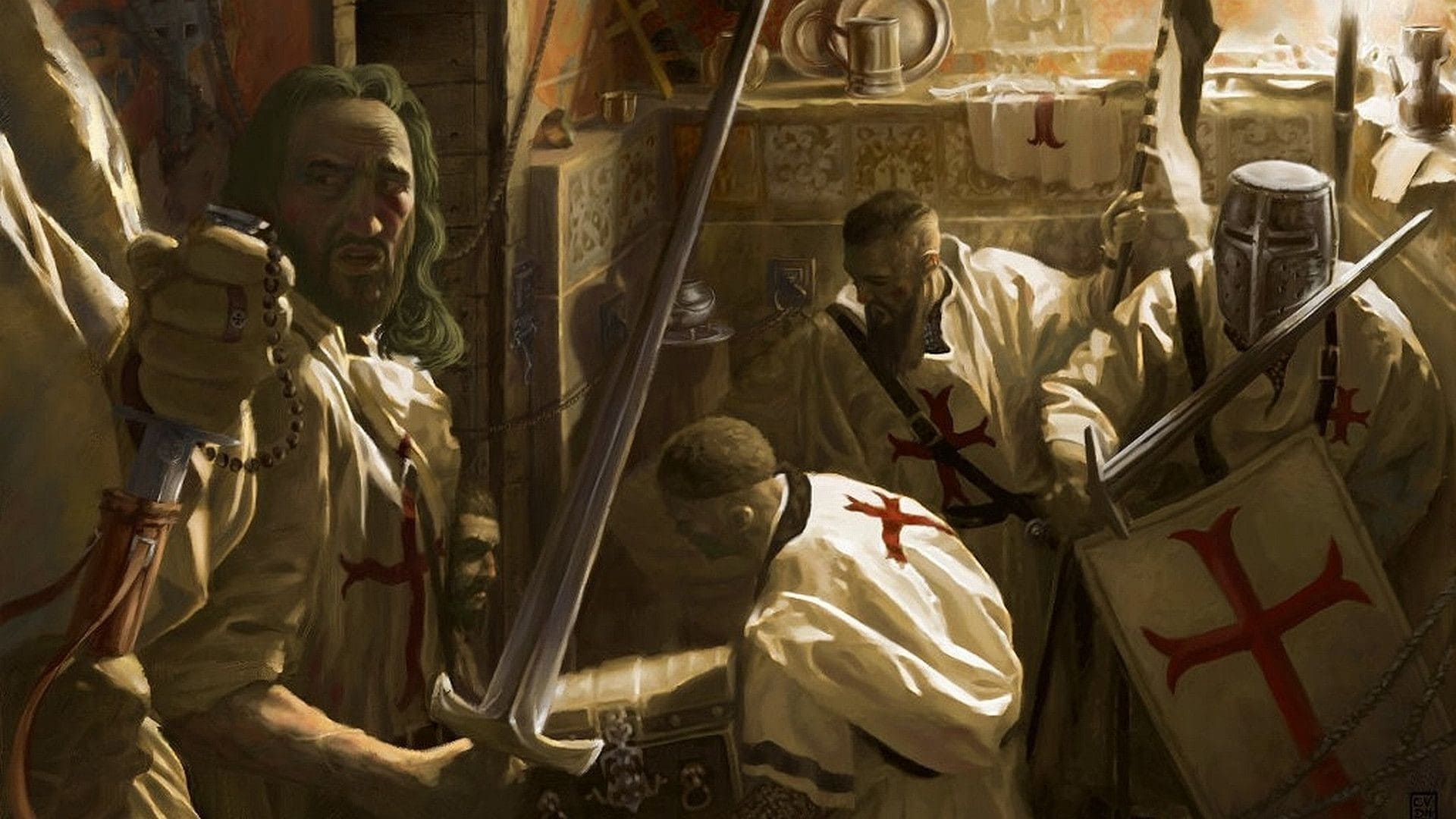 Тамплиеры договорились о создании ВКЛ командорств и орденского замка