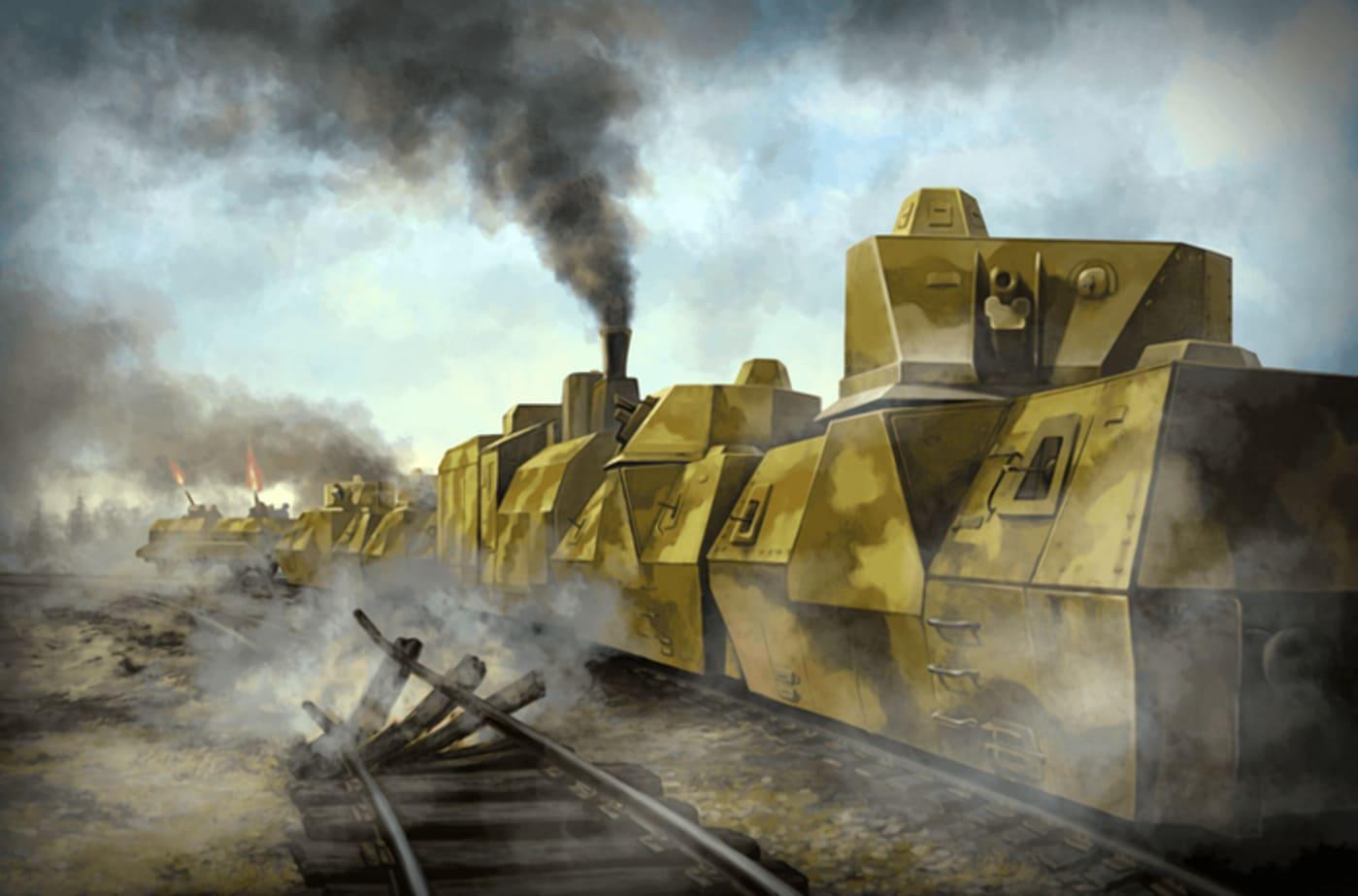 Бронепоезд мог активно вмешаться в боевые действия на жд мосту.