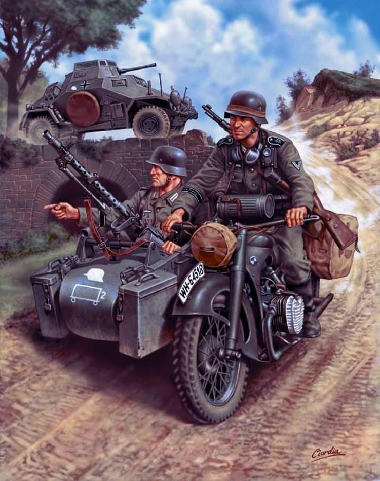 Немецкие войска начали продвигаться очень осторожно