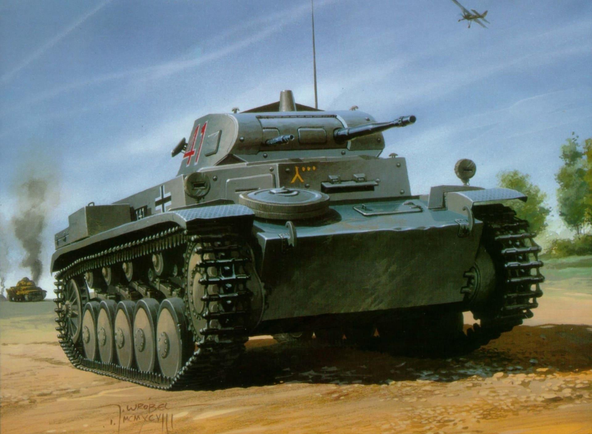 Немецкие легкие танки исправно горели