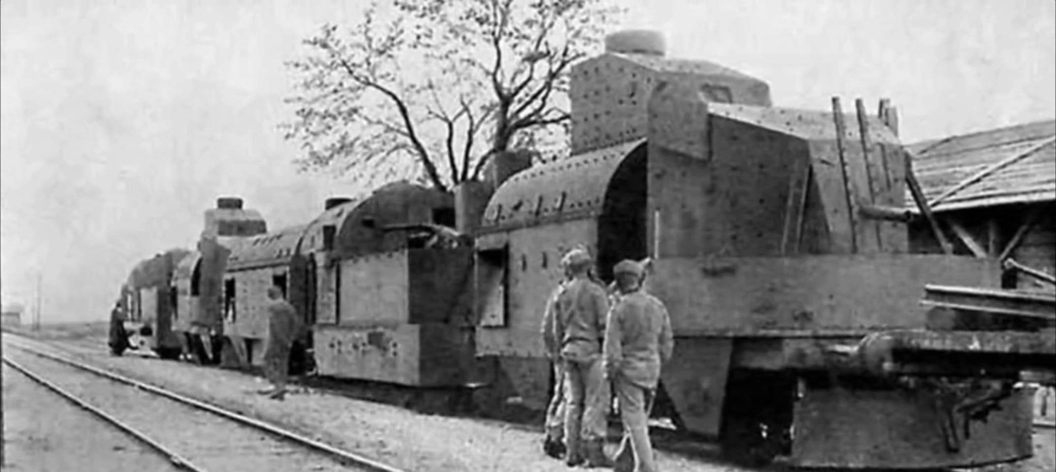 Однотипный польский бронепоезд без зенитной площадки и бронированного салона на станции Брест-4