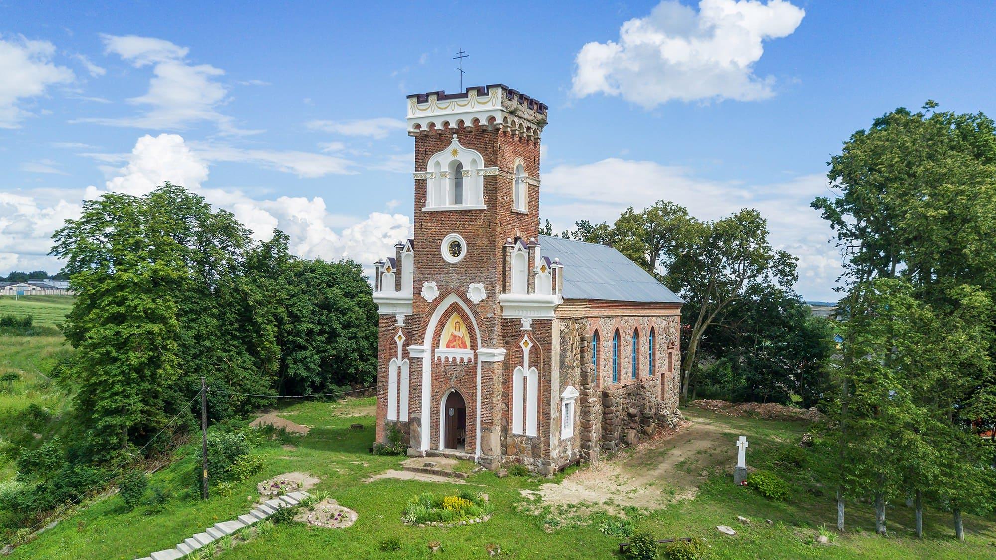 Возле готического костела были обнаружены жертвы