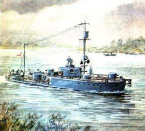 Мониторы Пинской военной флотилии были бронированными батареями