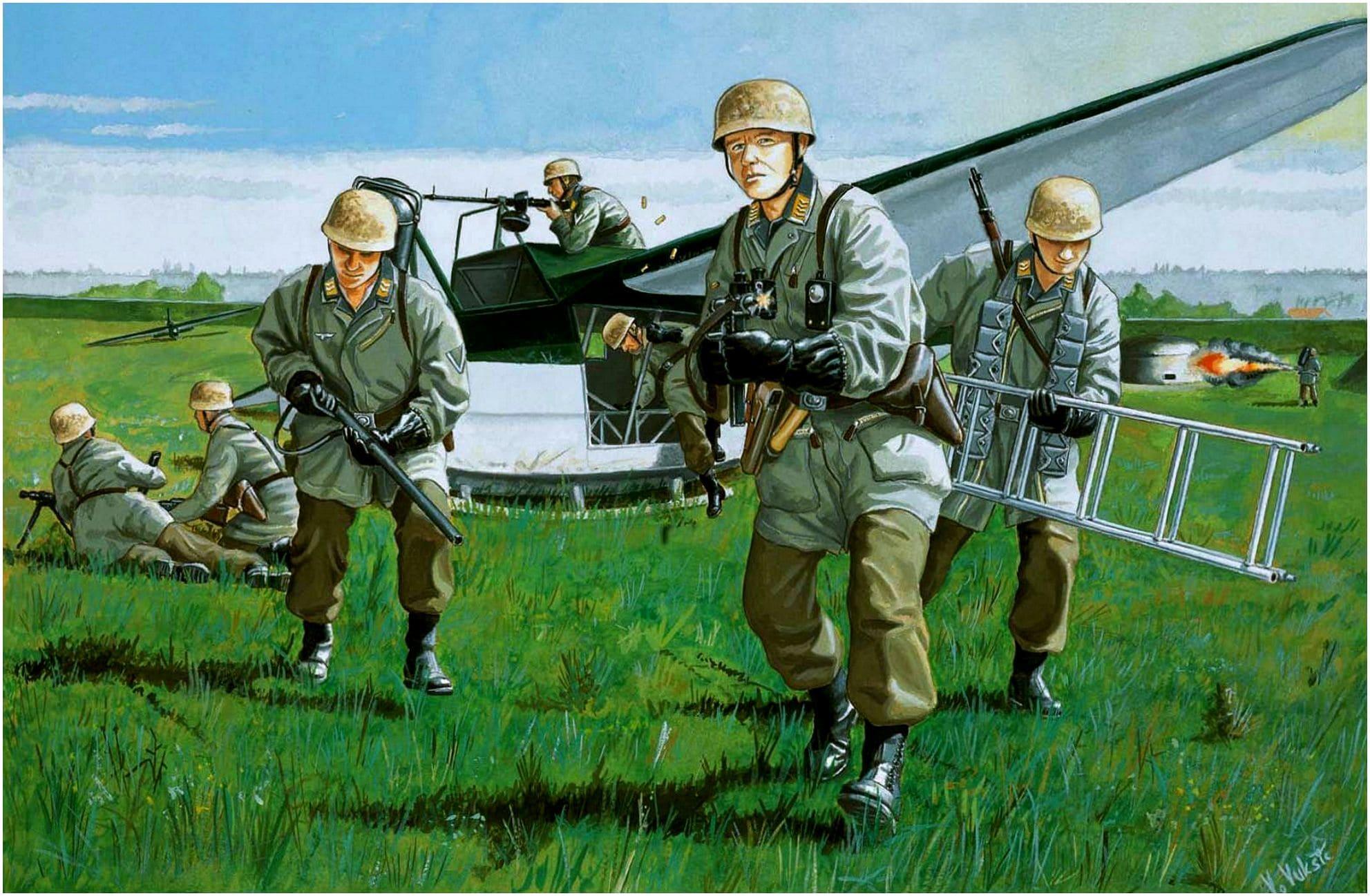 Немецкие парашютисты высадились до официального начала войны