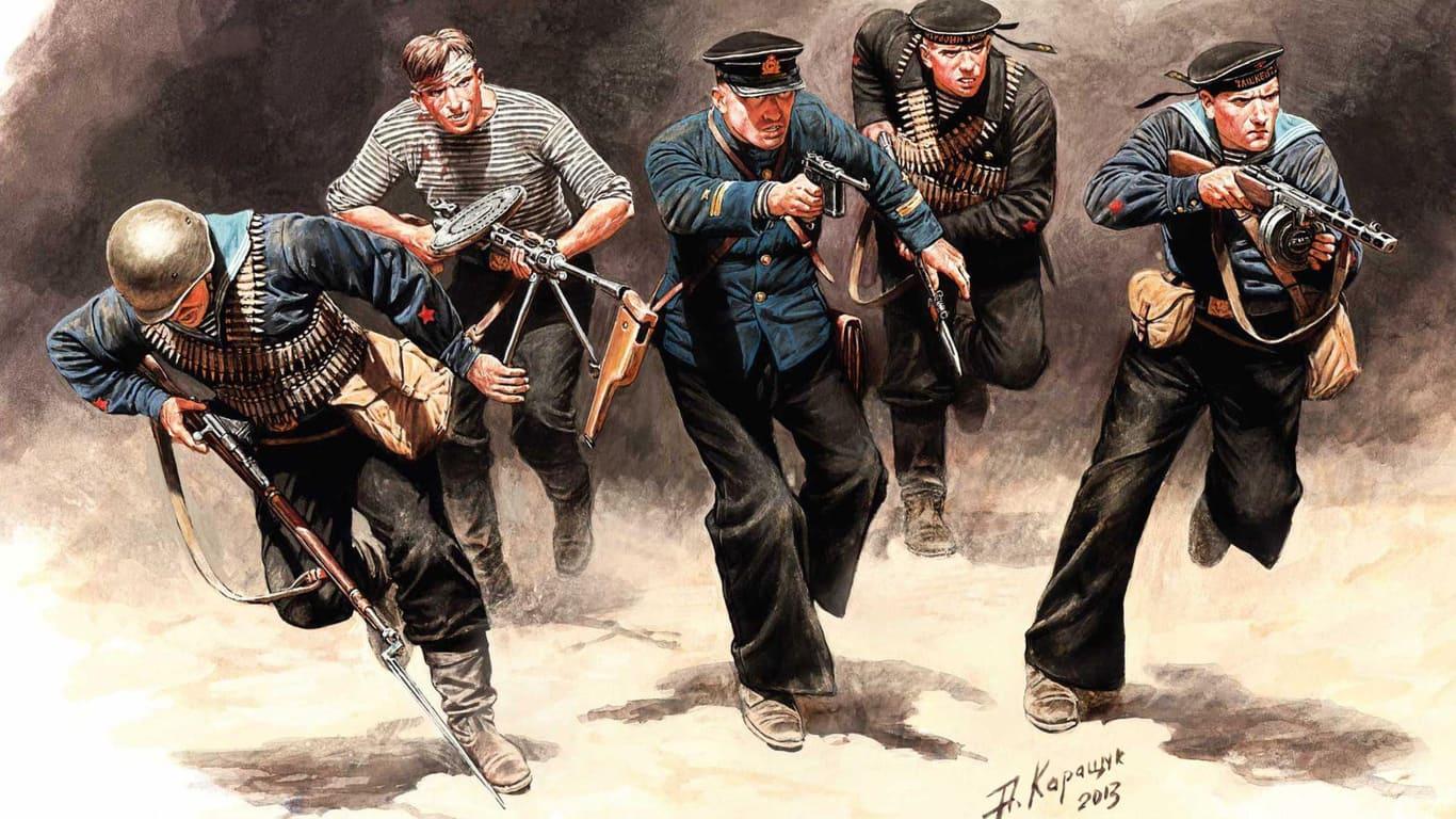 Отдельная рота морской пехоты была особым подразделением