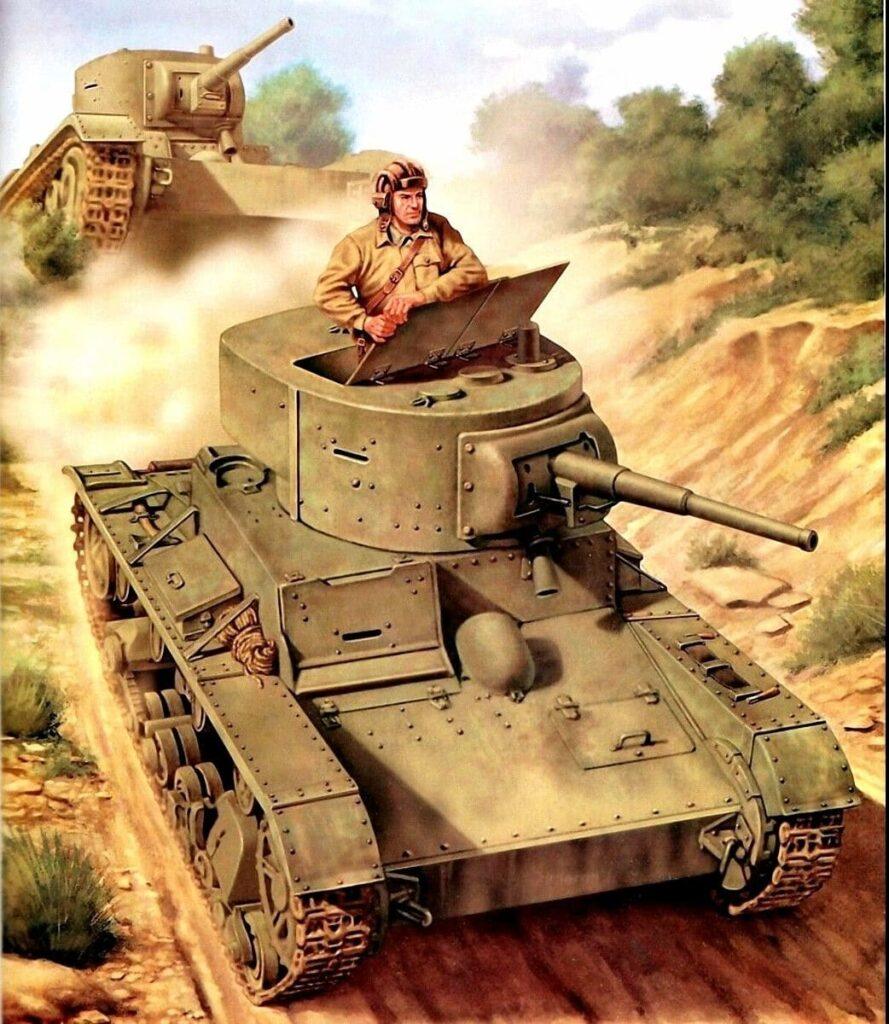 Материальная часть дивизии состояла только из боевых машин Т-26