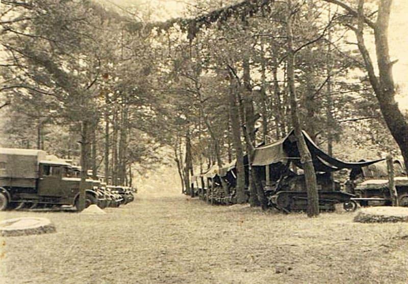 Первоначально на месте военного городка были летние лагеря