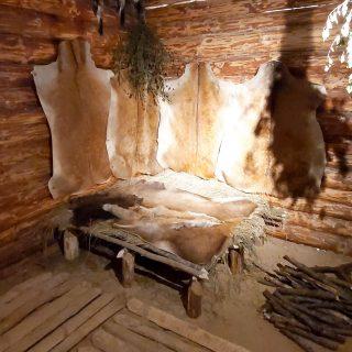 Стены жилища и мето отдыха людей милоградской культуры