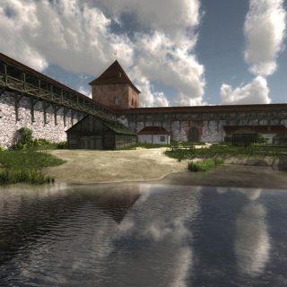 Крево замок внутренний двор