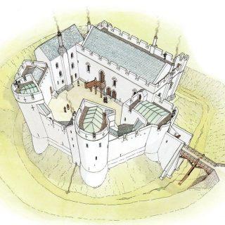 Рогачевский замок времен ВКЛ