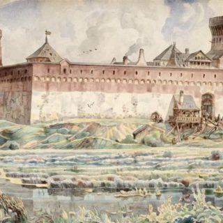 Лидский замок времен Гедимина