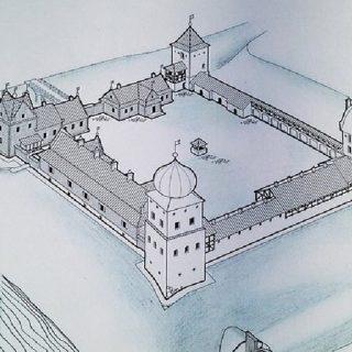 Любчанский замок в 16 веке