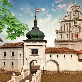 Гродненский замок при короле Стефане Батории-min