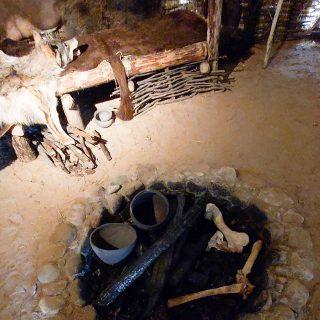 Открытый очаг в жилище Милоградской культуры