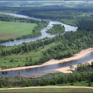 Августовский канал вид с высоты