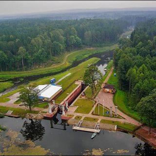 Августовский канал вид с высоты птичьего полета