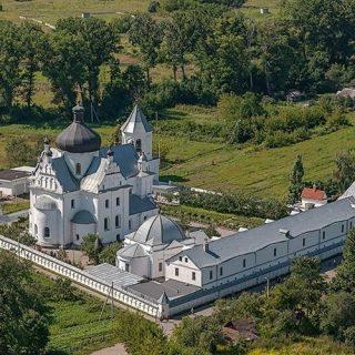 Свято-никольский женский монастырь с высоты птичьего полета