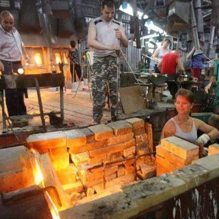 Кирпичные печи на заводе
