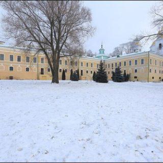 Здание музея книгопечатания зимой
