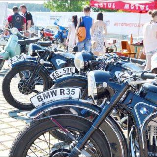 Выставка мотоциклов в Заславле
